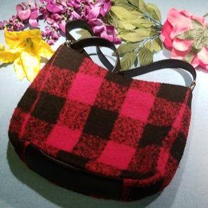 Talbots crossbody flannel bag